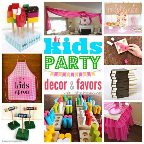 DIY kids party decor and favors