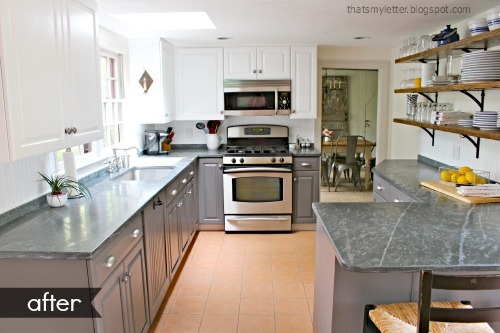 farmhouse style kitchen makeover after