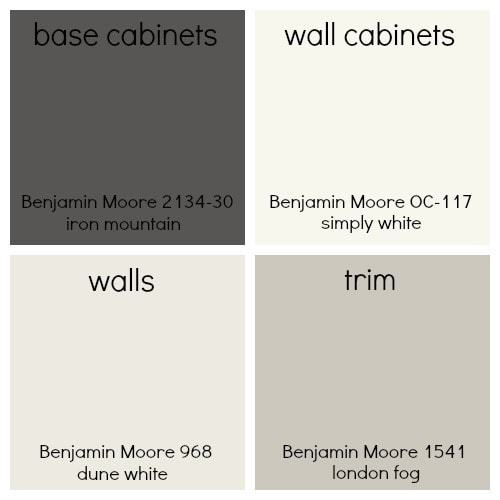 benjamin moore color choices farmhouse kitchen