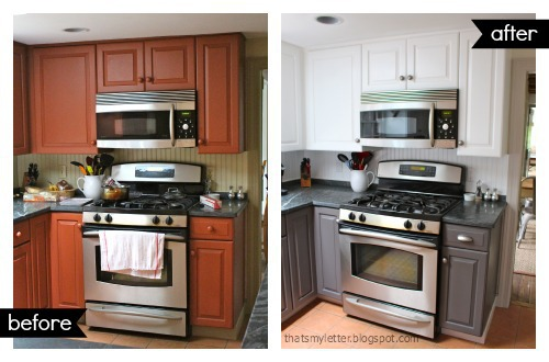 kitchen makeover stove before and after