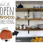 DIY Open Wood Shelving