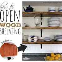 DIY Open Wood Shelving