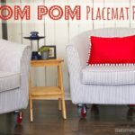 """P"" is for Pom Pom Placemat Pillows"