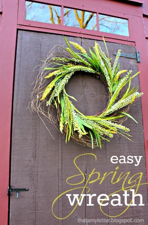 diy easy spring wreath