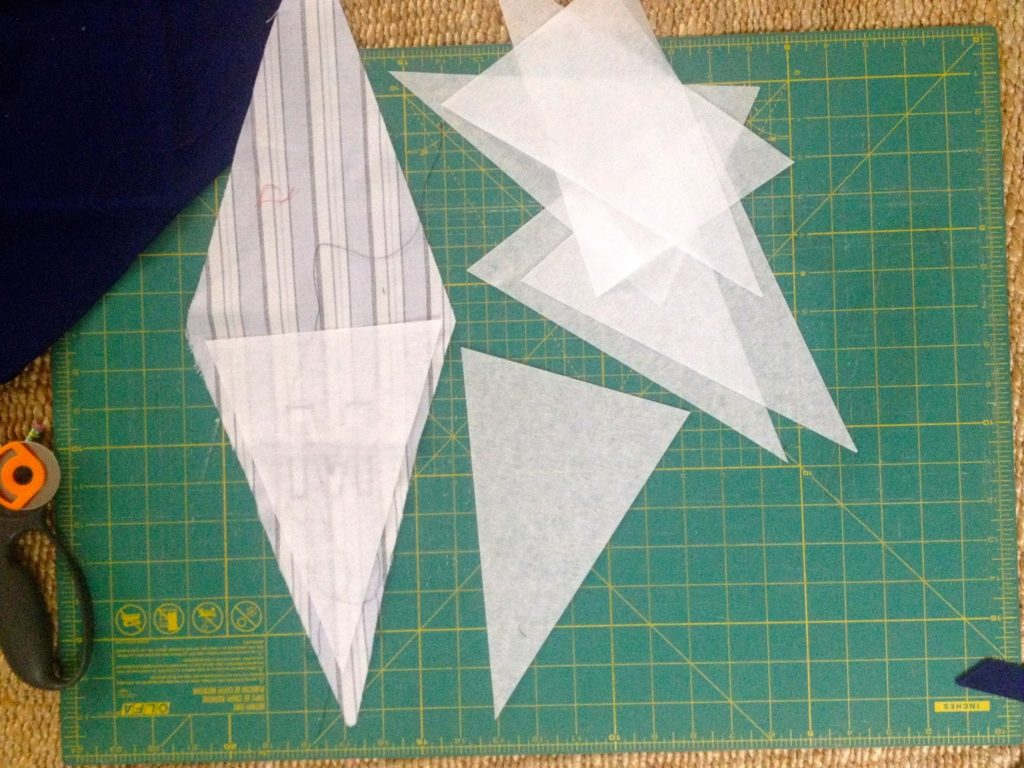 iron interfacing between triangle