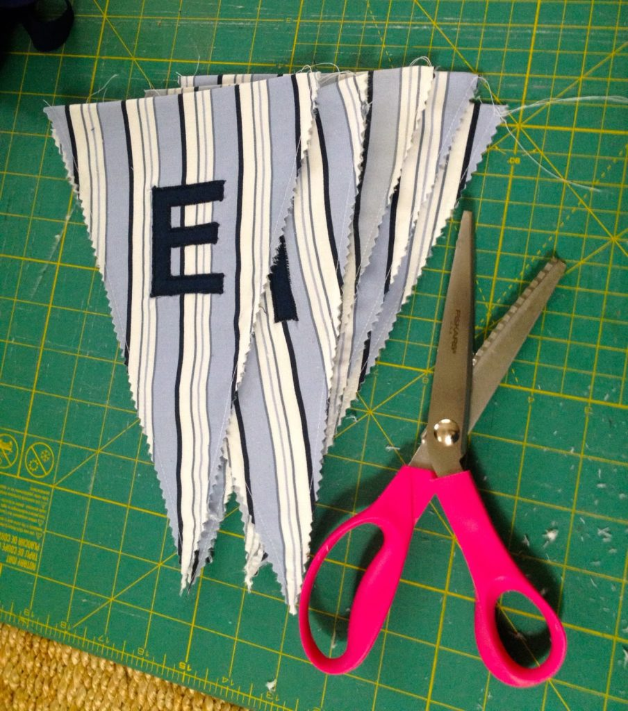 trim edges with pinking shears