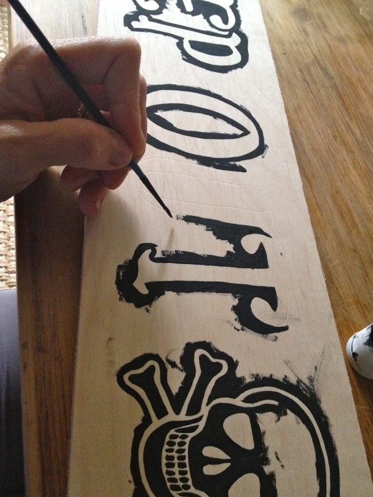paint around outline of letters