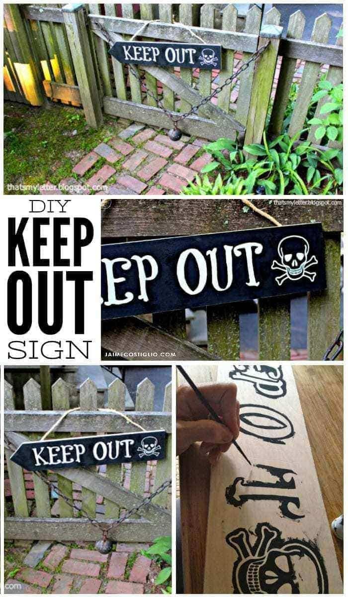 diy keep out sign