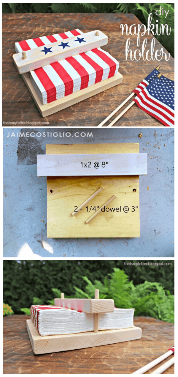 diy scrap wood napkin holder