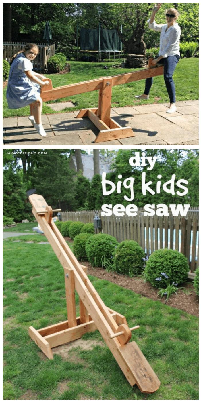 diy see saw for big kids