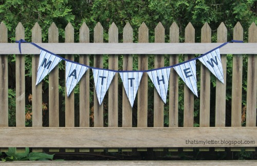 personalized fabric bunting