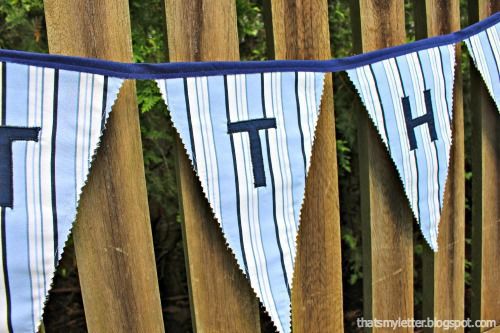 diy fabric bunting detail