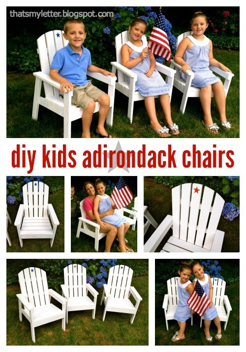 diy kids adirondack chairs