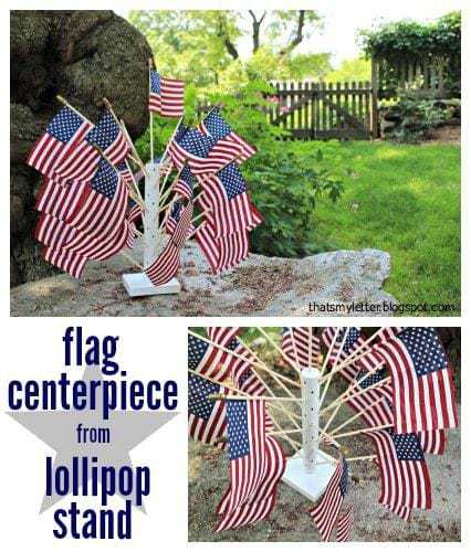 diy 4th of July flag centerpiece