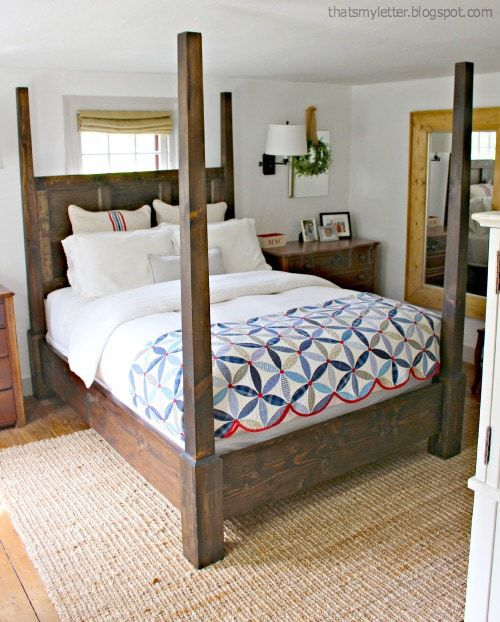 diy poster bed master bedroom