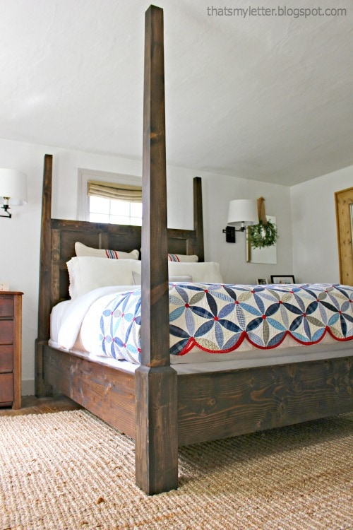 posterd bed no canopy
