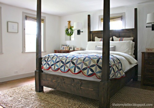 antique home poster bed