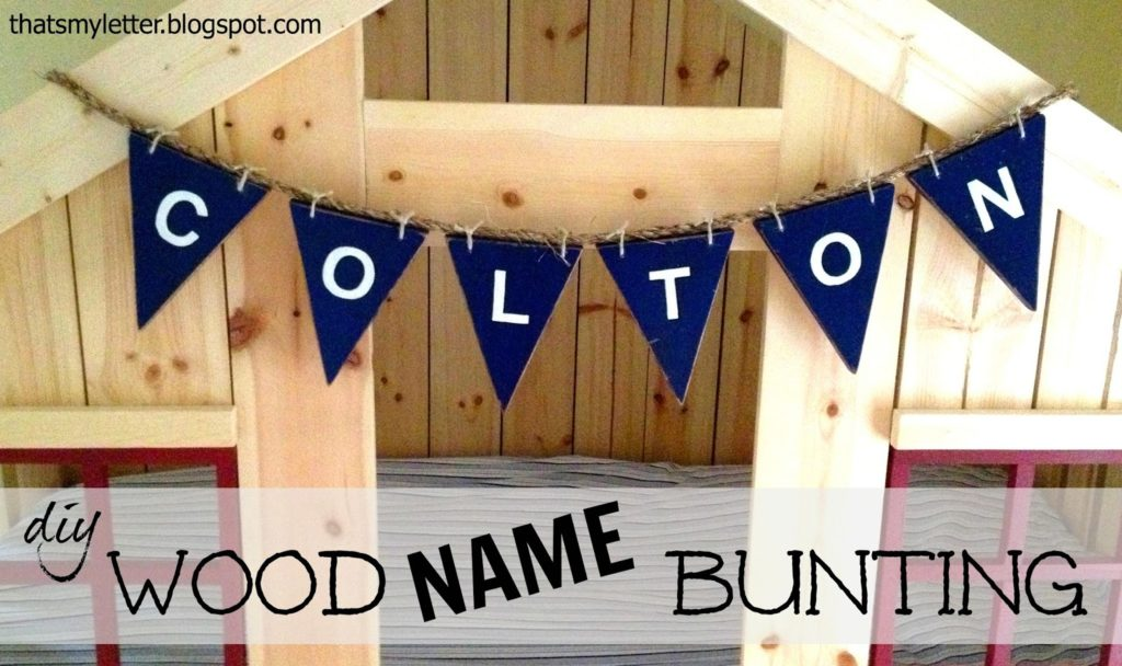 diy wood name bunting