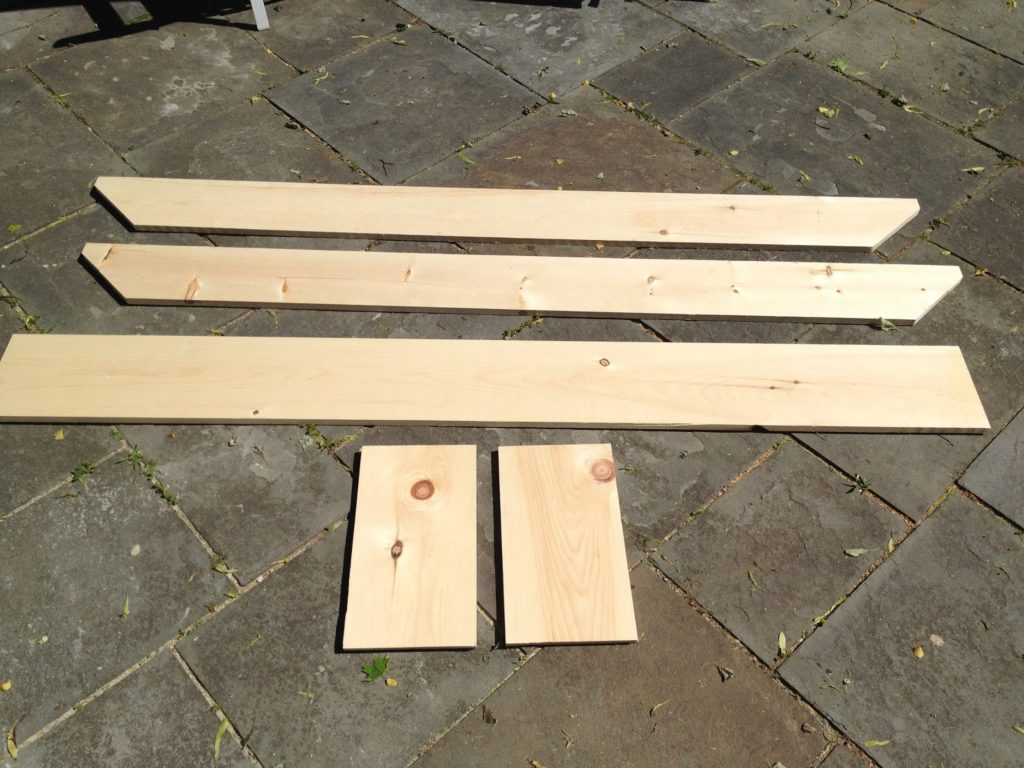 wood pieces for rustic bench