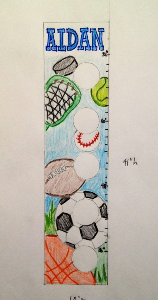 sports growth chart sketch