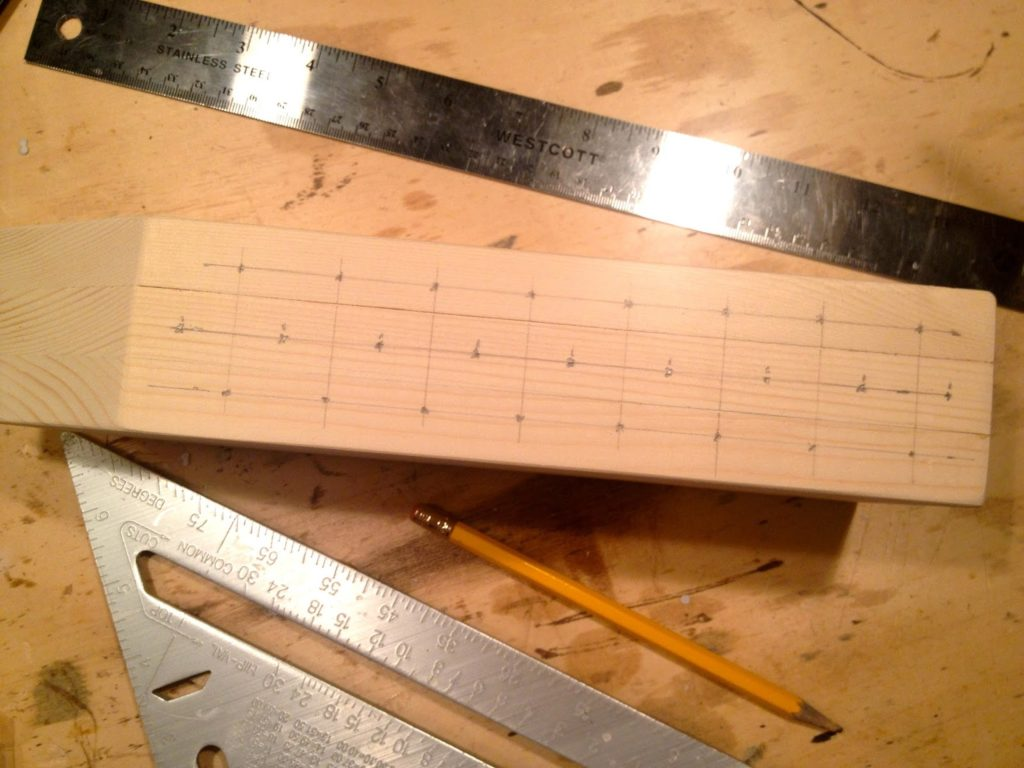 grid for pencil holes