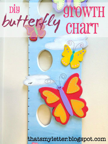 diy butterfly growth chart