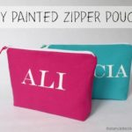 """P"" is for Painted Zipper Pouch"