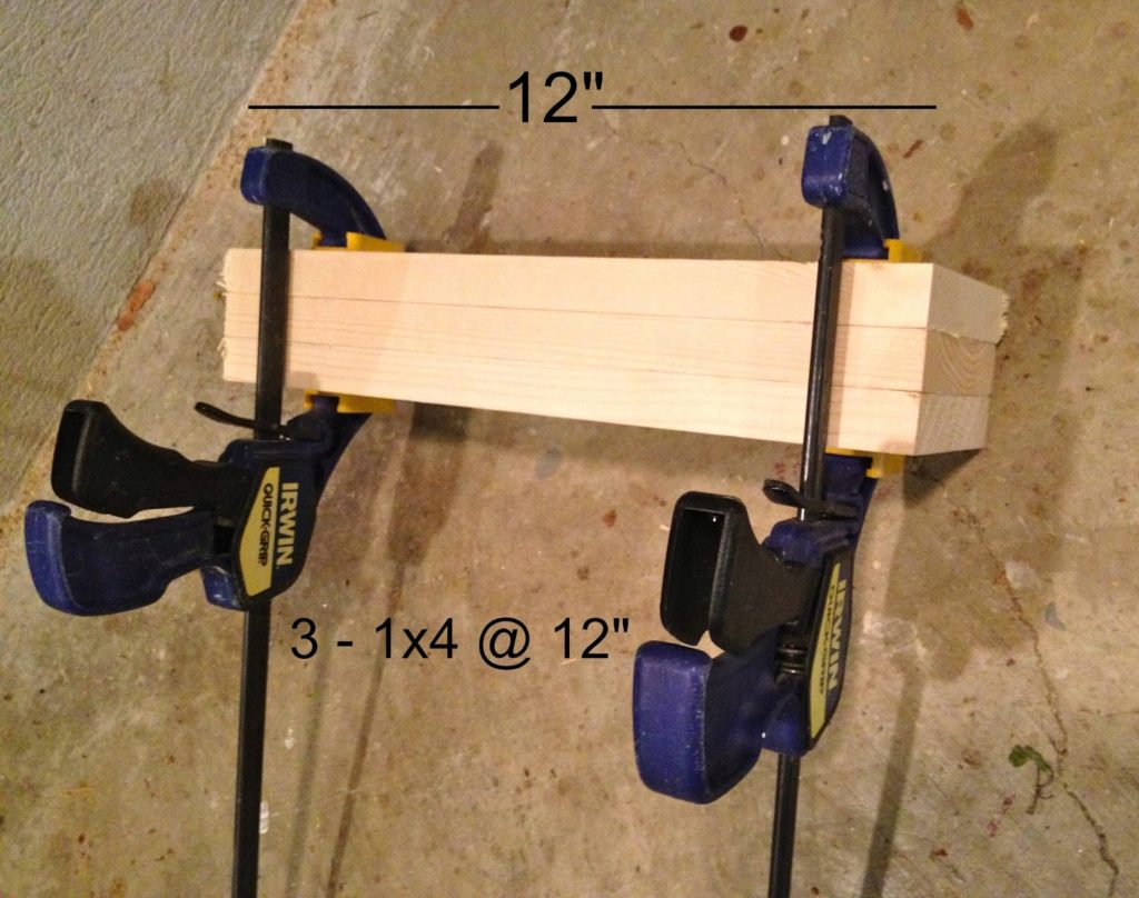 wood glue up in clamps