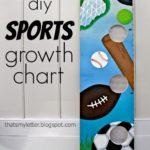 DIY Sports Themed Growth Chart