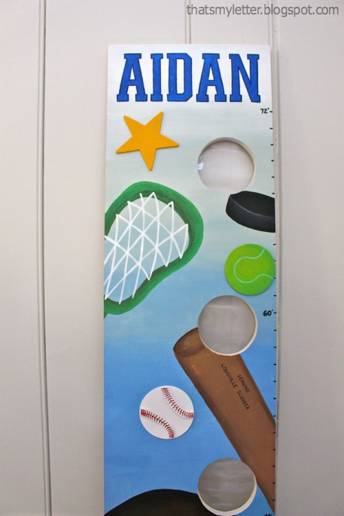 personalized sports themed growth chart
