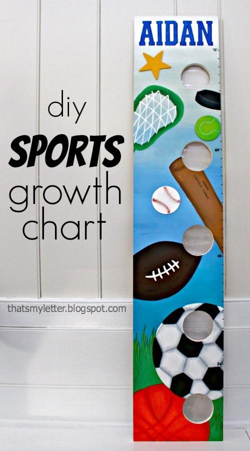 diy sports growth chart