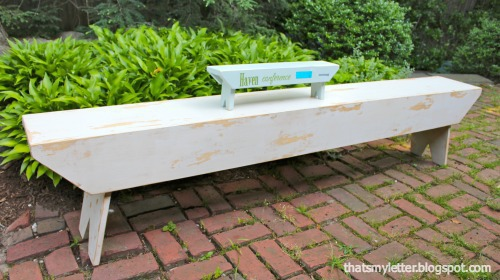 diy rustic bench with tiny bench