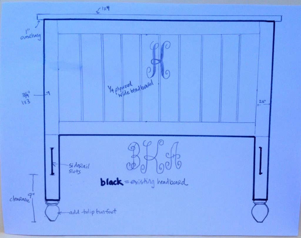 sketch to transform headboard