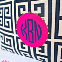 DIY Embellished Monogram Pouch