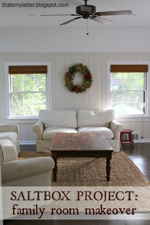 farmhouse family room makeover