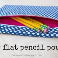 """F"" is for Flat Pencil Pouch"