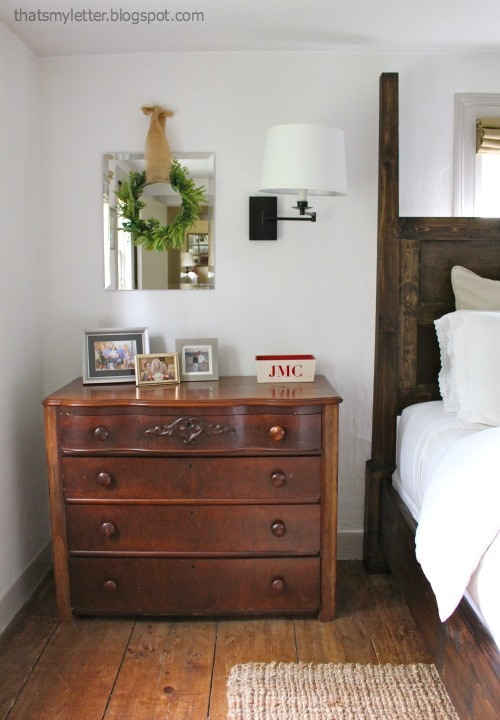 antique nightstand master bedroom