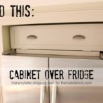 DIY Over the Fridge Cabinet