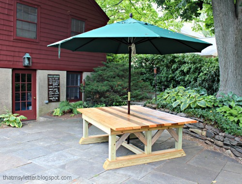 Diy Outdoor Trestle Dining Table Jaime Costiglio