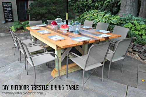 A Diy Outdoor Table That Seats 10 Comfortably And Weu0027ve Got The Plans For  You! I Desperately Wanted To Build An Outdoor Table That Was Double Wide  (meaning ...