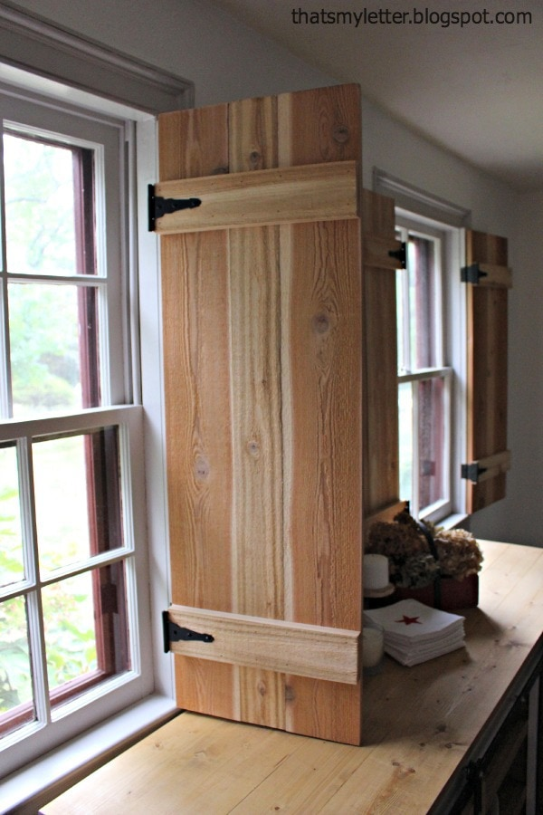 interior functional cedar shutters