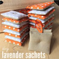 DIY Lavender Sachet Party Favors