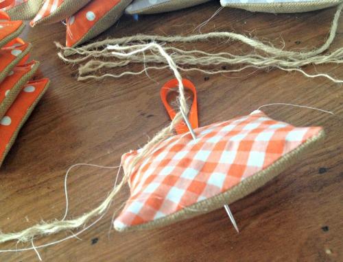 diy lavender sachet jute string
