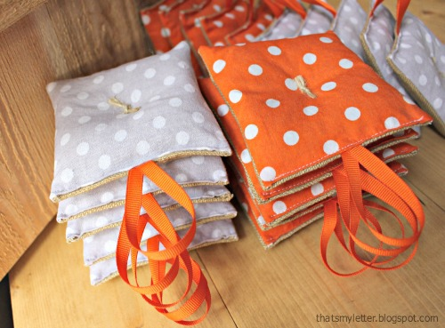 diy sachet party favors stacked