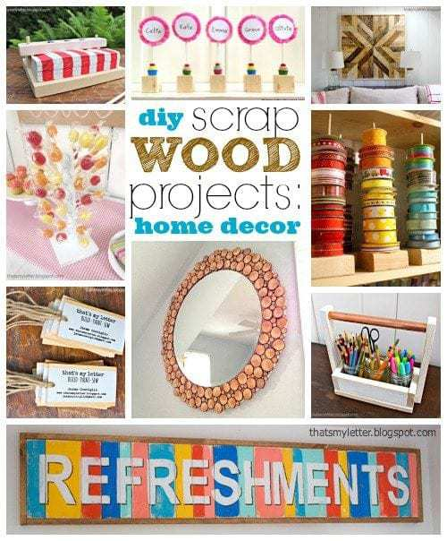 Pinterest Home Decor 2014: DIY Scrap Wood Projects: Home Decor
