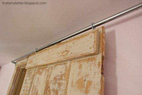 screw eyes on sliding barn door