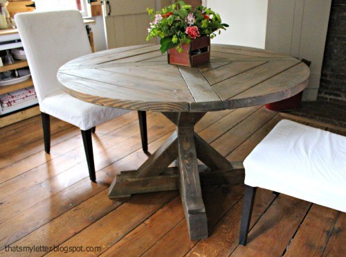 diy circular table with x base