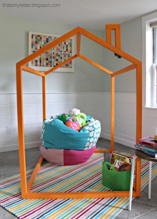 orange kids open playhouse