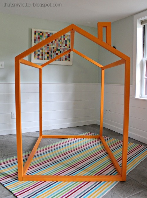 diy open playhouse frame