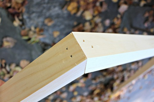 finish nail angles together